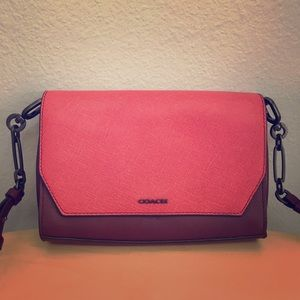 Coach two tone two way - shoulder bag or clutch